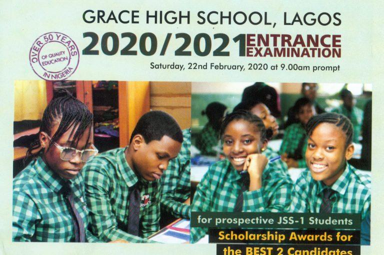 Grace School Entrance Examination 2020/2021