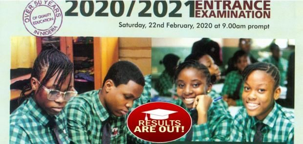 Grace High School Entrance Examination 2020/2021 results