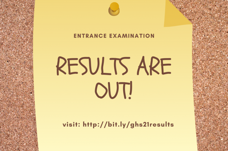 Grace High School 2021/2022 Entrance Examination Results