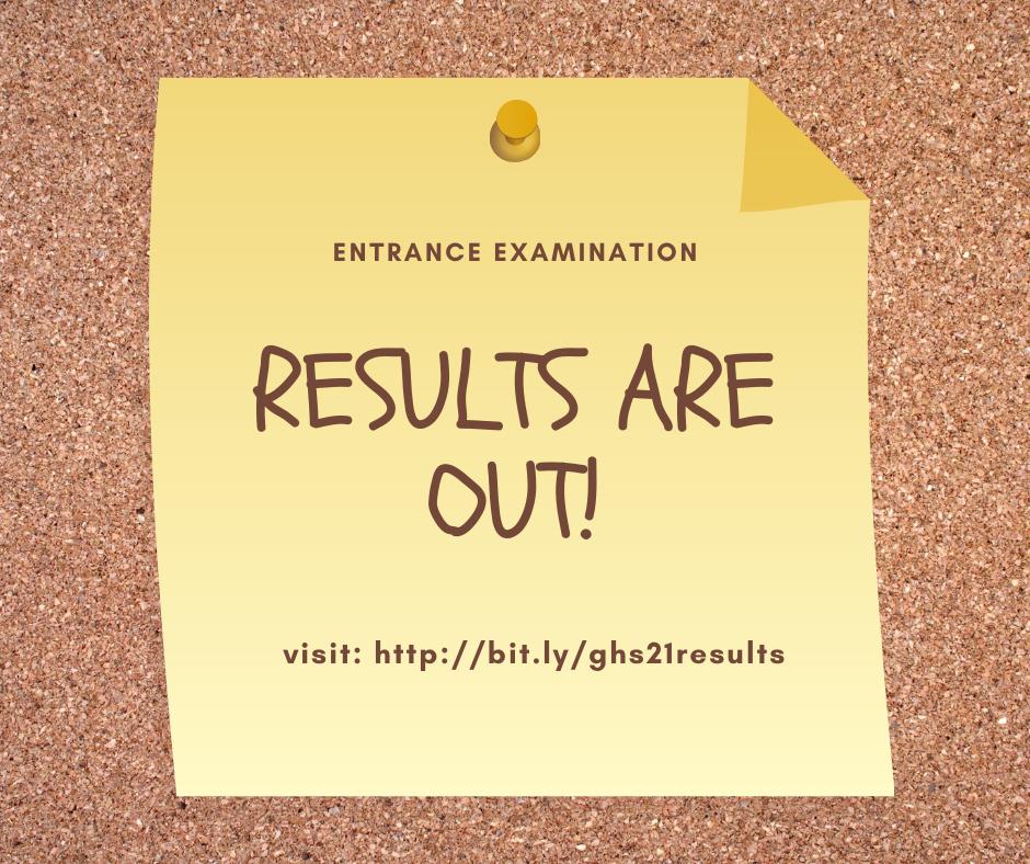Grace High School 2021/2022 Entrance Examination Results